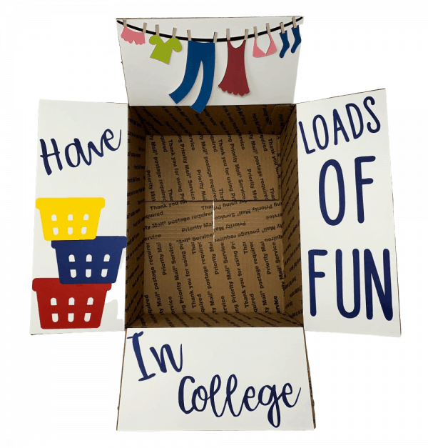 Laundry care package decorations