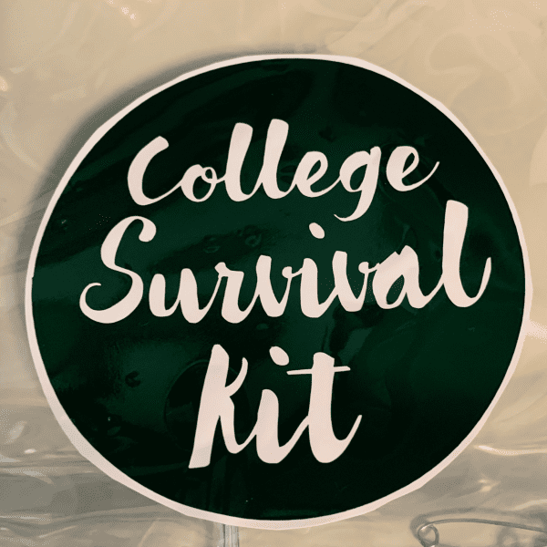college survival kit sticker