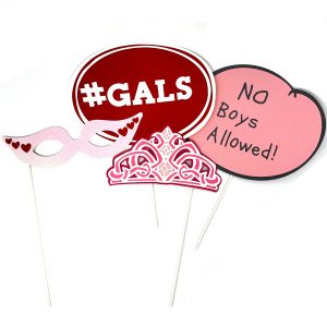 Galentines day photo props