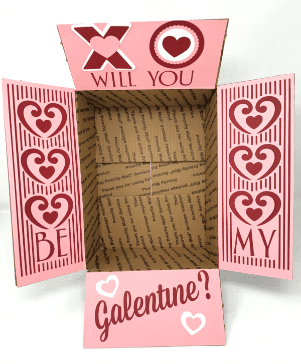 Galentine's day care package decorations